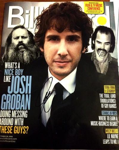 Signed Billboard Magazine
